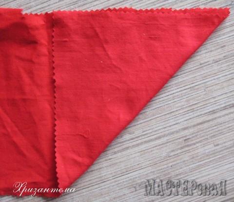 Я взяла красную ткань,можно и понаряднее-как душа пожелает.