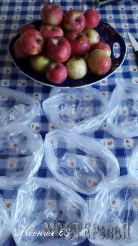 Замораживаем яблоки на зиму