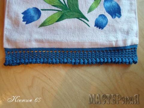 Обвязка полотенец крючком