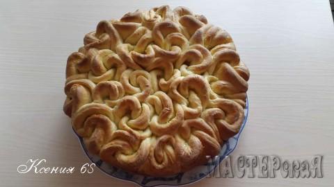 Мой пирог Букет роз с персиковым джемом