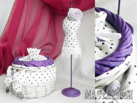 Манекен - Отделка: ткань подкладочная, ткань хлопок, картон, наполнитель холлофайбер. Размер манекена: высота-30см.