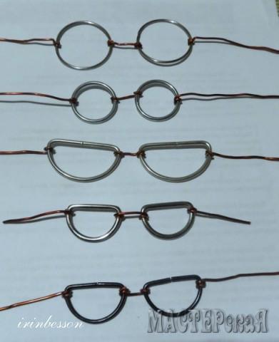 МК делаем очки для игрушек