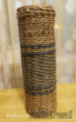 Первая плетенка - ваза