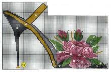 Вышивка крестом туфелька