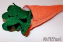 Морковка сшить из ткани 1