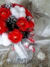 Исоль - Зимний букет в плетёной вазе