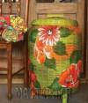 Ксения 68 - Декупаж тканью на плетеной корзине