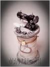 Ксения 68 - Коробочка в виде катушки со швейной машинкой. МК
