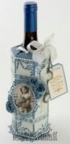 Ксения 68 - Упаковка для бутылки Скрапбукинг.Шаблон