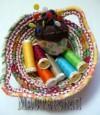 Ксения 68 - Корзинка из бельевой веревки и ткани