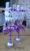 Свадебнаякомпозиция(букетневесты,бутылочки,бокалы)