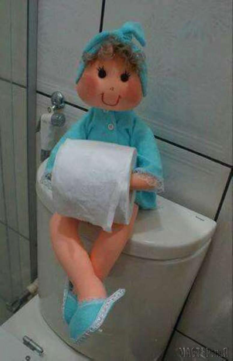 Как сделать куклу с туалетной бумаги