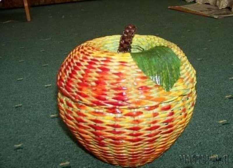 Корзинка яблок своими руками