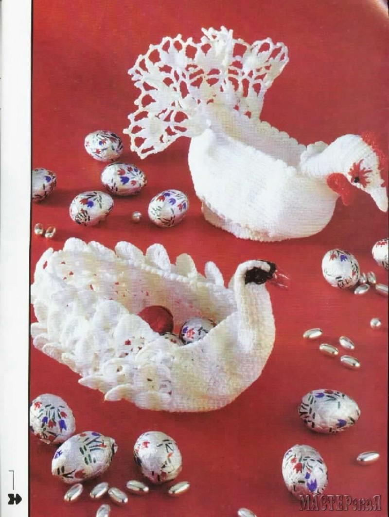 Салфетки крючком лебеди схема фото 810