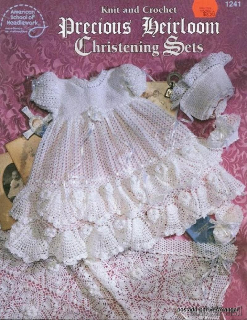 Вязание спицами крестильное платье малышке видео