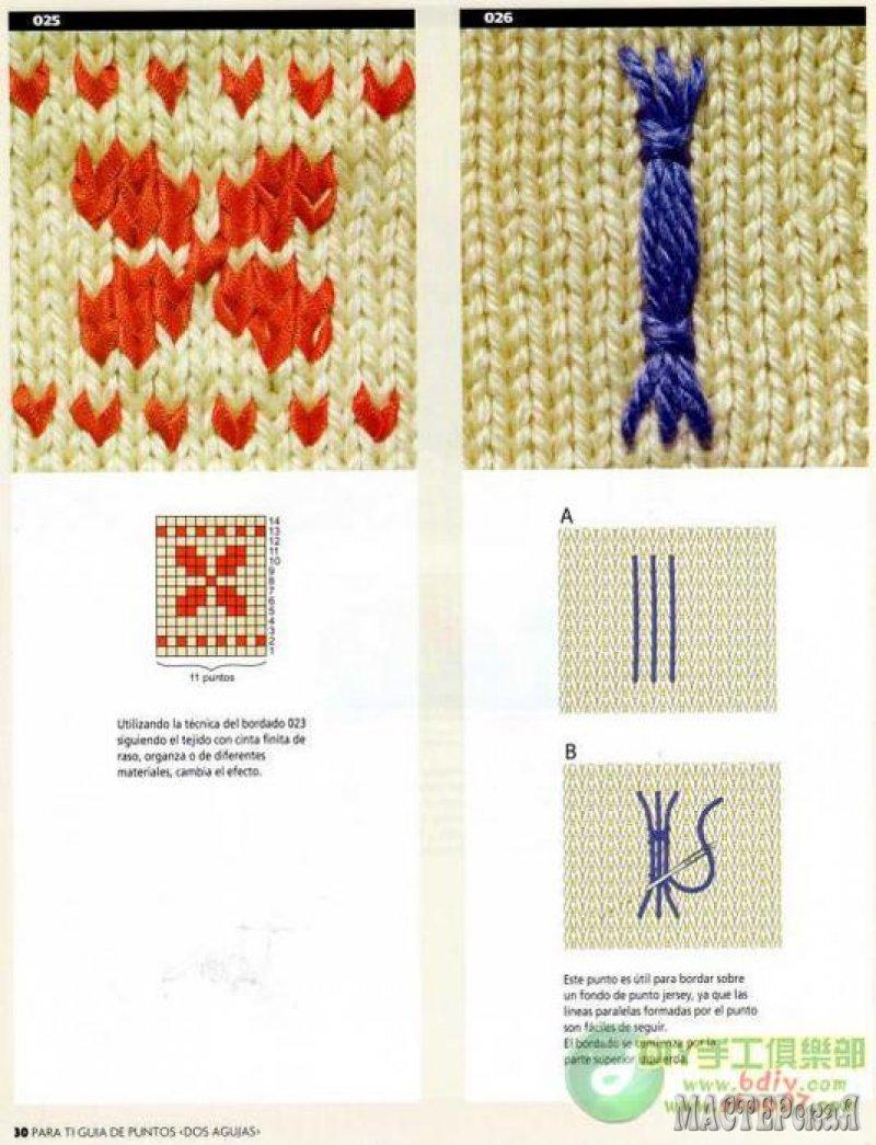 Вышивка по вязание