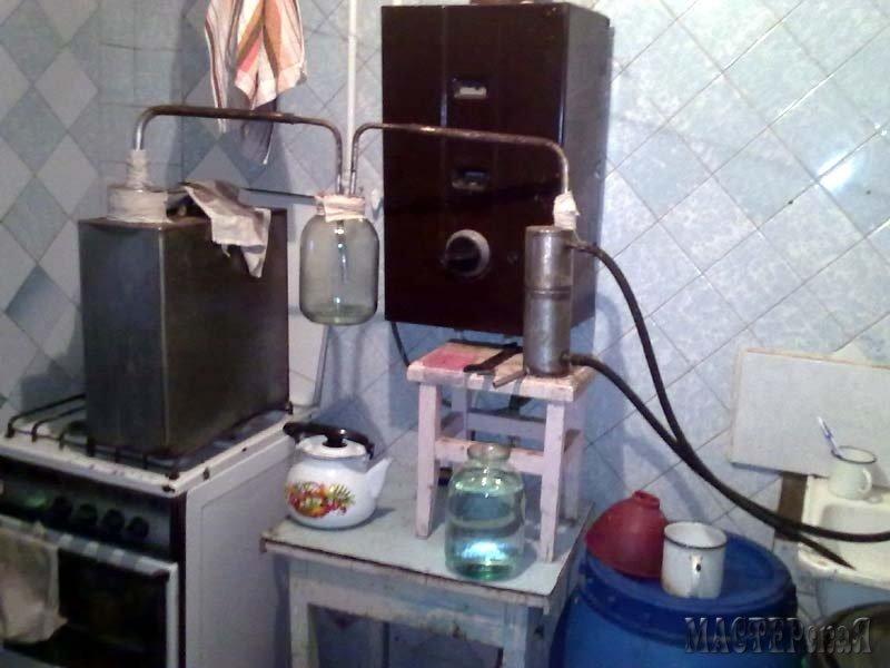 Как самому сделать самогонный аппарат в домашних условиях 525