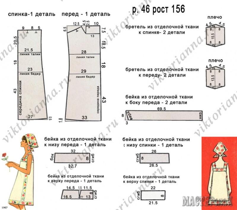 Схема выкройки сарафана фото