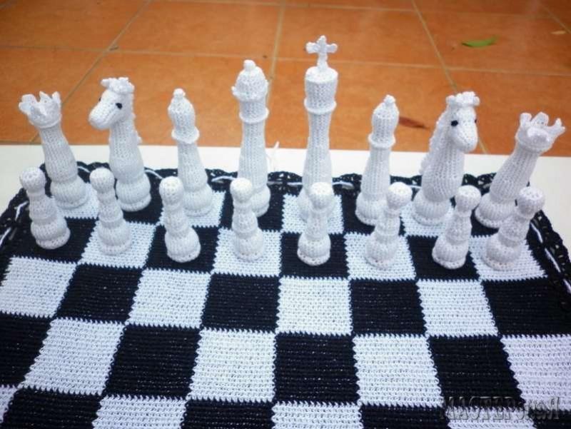 Шахматное вязание крючком 5