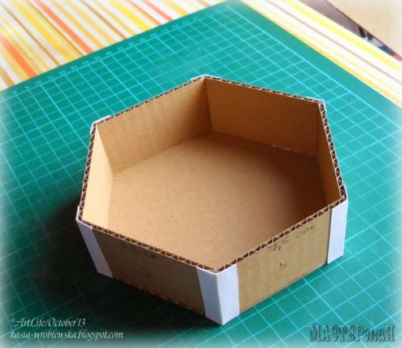 Шестиугольные коробочки своими руками